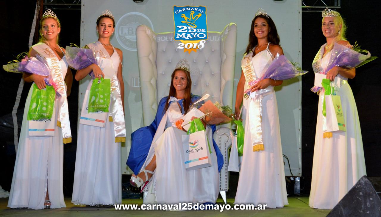 Claudina Tellechea Herrera es la Reina Distrital del Carnaval de 25 de Mayo